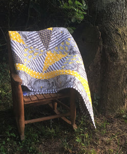 Quilt - Dahlia Yellow & Gray