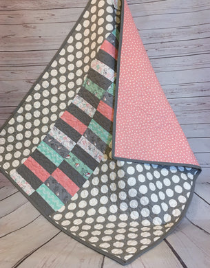 Quilt - Little Birdie Dots and Stripes