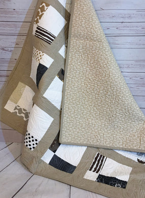 Quilt - Squares in Neutral