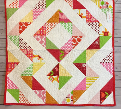 Quilt - Modern Triangles Reds