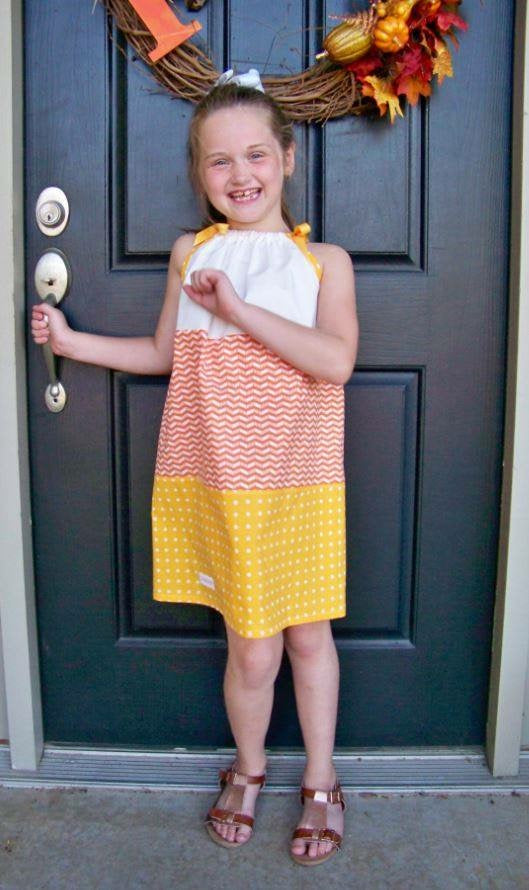 DRESS - Grow With Me Dress - Candy Corn