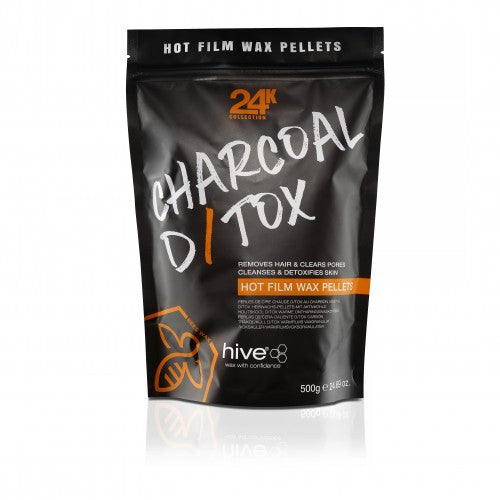 Charcoal D/Tox Hot Film Wax Pellets 500G Hive - Ultimate Hair and Beauty