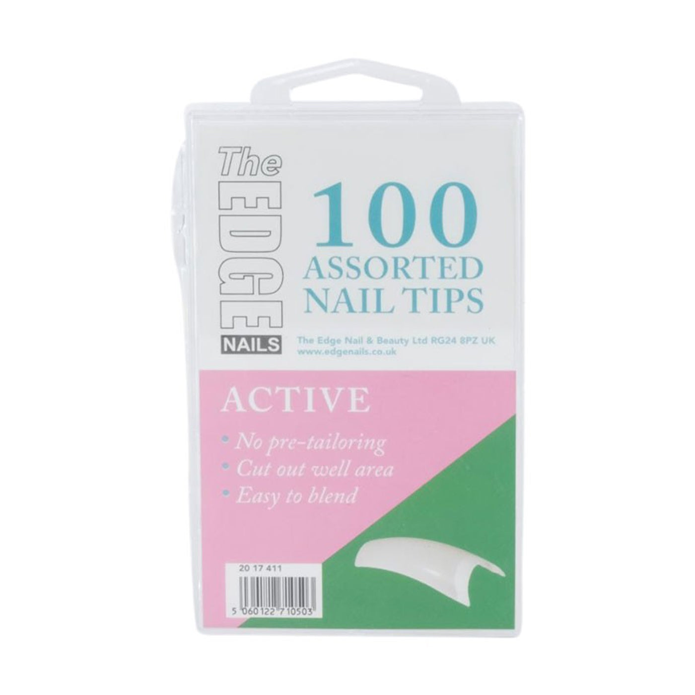 Edge Nails Active Tips Assorted Pack (x100) - Ultimate Hair and Beauty