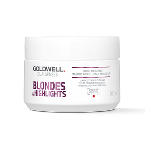 Goldwell DualSenses Color Blondes & Highlights 60 second Treatment (200ml) - Ultimate Hair and Beauty