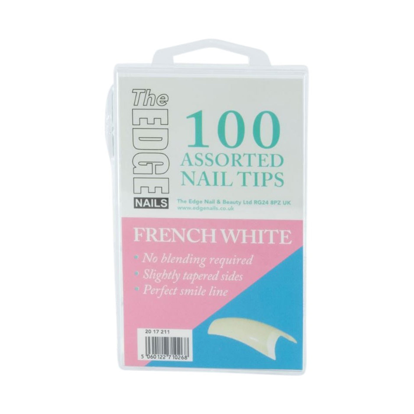 Edge Nails French White Tips Assorted Pack (x100) - Ultimate Hair and Beauty