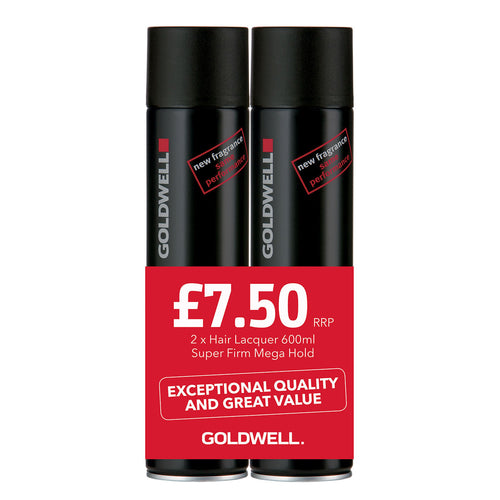 Goldwell Super Firm Mega Hold Hair Lacquer (Twin Pack) - Ultimate Hair and Beauty