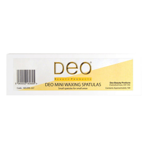 Deo Disposable Mini Waxing Spatulas (x100) - Ultimate Hair and Beauty