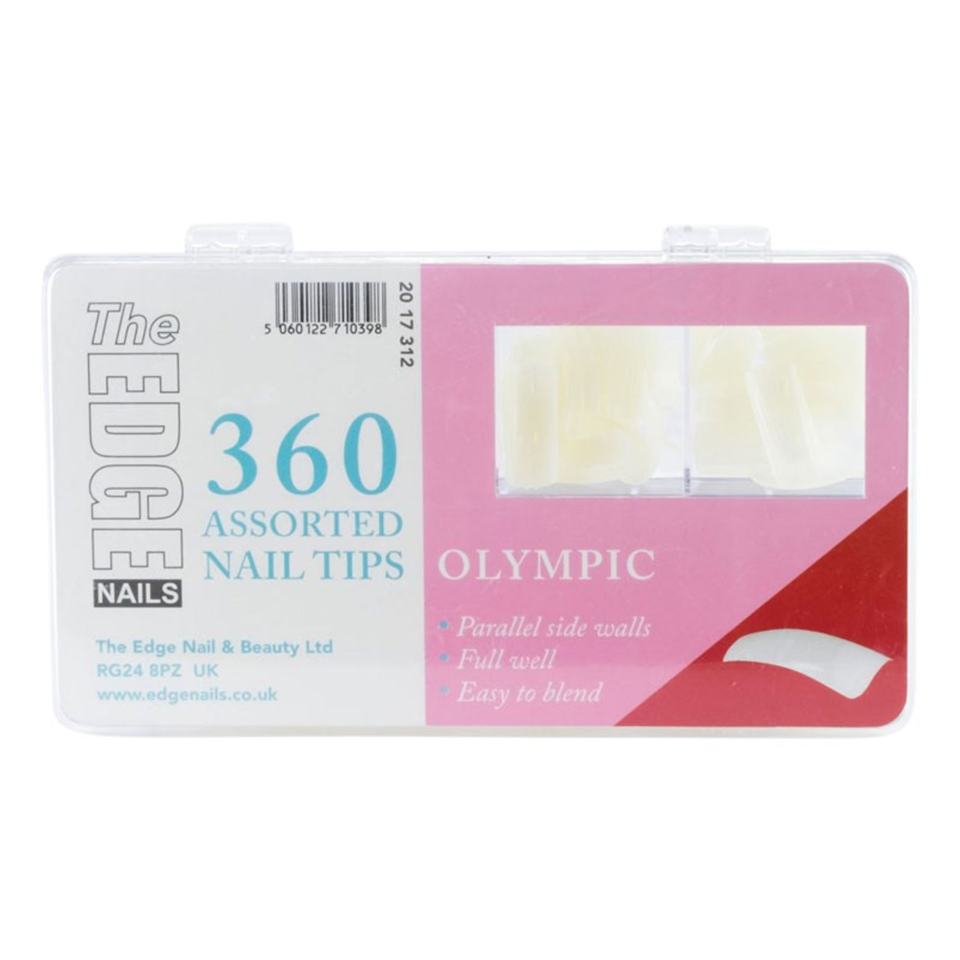Edge Nails Olympic Tips Assorted Master Pack (x360) - Ultimate Hair and Beauty