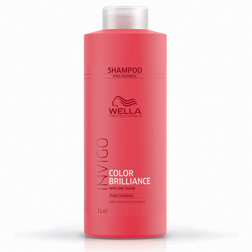 Wella INVIGO Color Brilliance Color Protection Shampoo - Fine (1000ml) - Ultimate Hair and Beauty