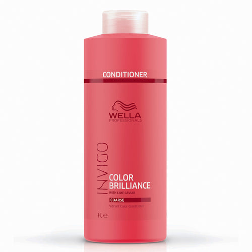 Wella INVIGO Color Brilliance Vibrant Color Conditioner - Coarse (1000ml) - Ultimate Hair and Beauty