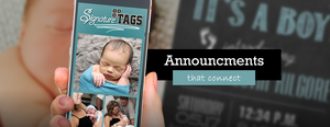 Use Signature tags for your Birth Announcements