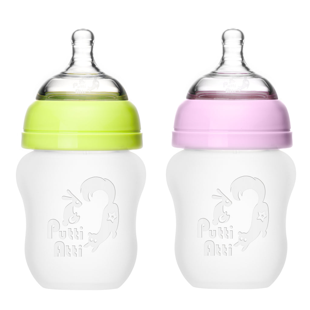 Silicone Baby Bottle, Twin (5.5 oz / 8.8 oz)