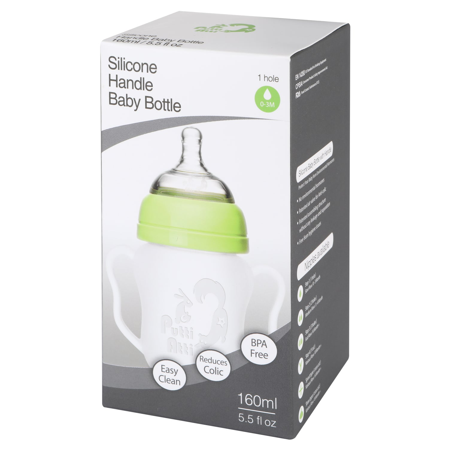 585fccead Silicone Baby Bottle with Handle (5.5 oz   8.8 oz) – putti-atti