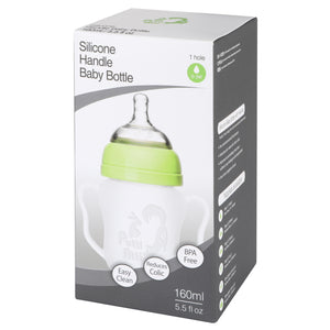 Silicone Baby Bottle with Handle (5.5 oz / 8.8 oz)