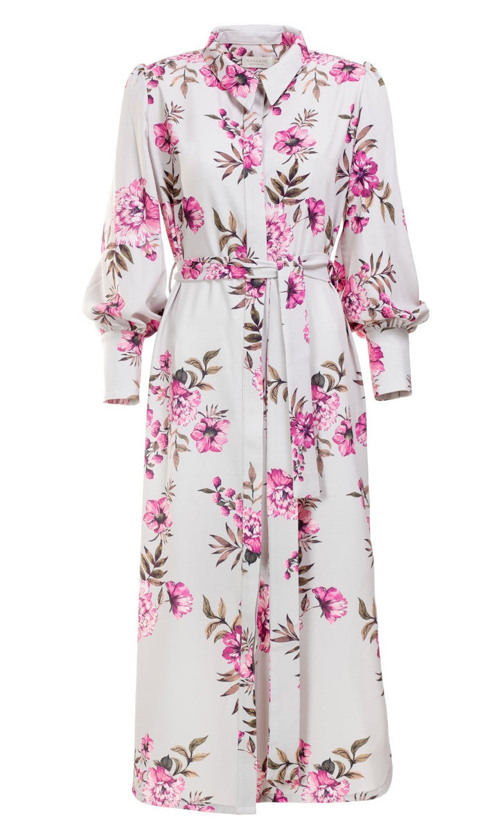 Flower Fusion Shirt Dress