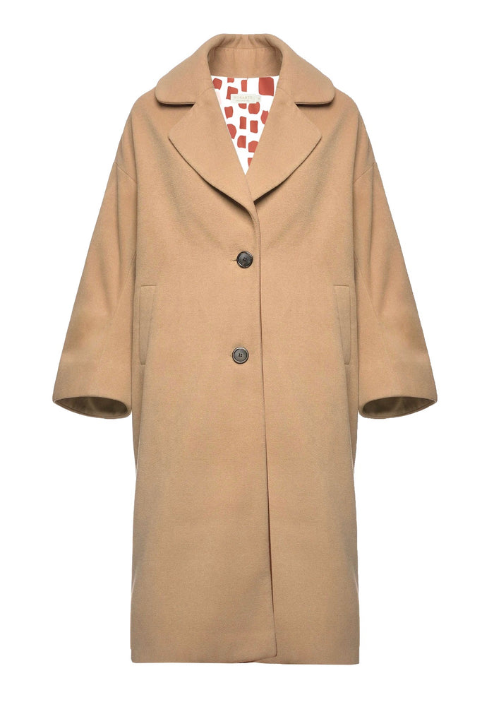 Hello Fall Oversized Coat with Wool