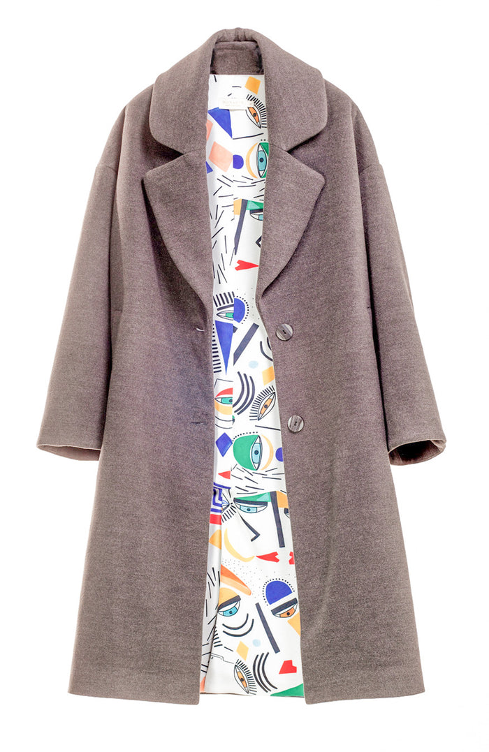 Family Essence Grey Oversized Coat