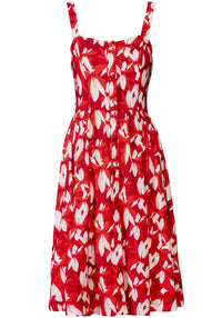 Red Blossom Summer Dress