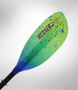 Werner Paddle Shuna Hooked 2 pc (Carbon Shaft/FG Blade) Catch Lime - Cedar Creek Outdoor Center