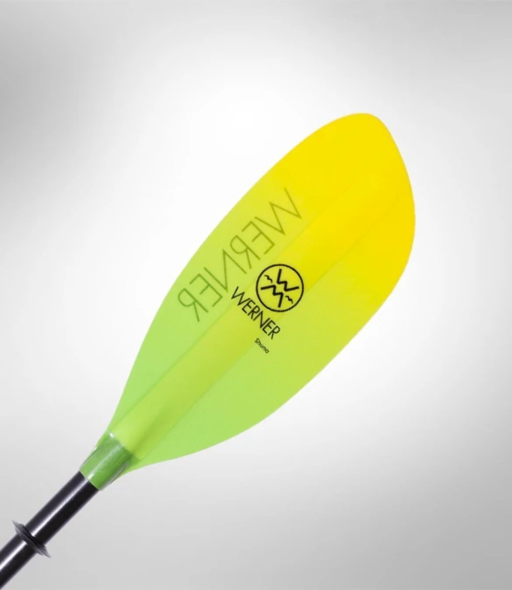 Werner Paddles Shuna Leverlock Adjustable Premium Kayak Paddle - Citrus - Cedar Creek Outdoor Center