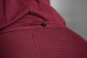 4Invictus - Elementum Asymmetric Vest – Bordeaux Red - Detail