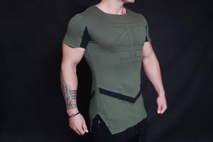 4Invictus - Evolve Shirt - Oive Green - Seitlich