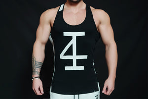 4Invictus - KANO Stringer – Black & Light Grey - Vorderseite