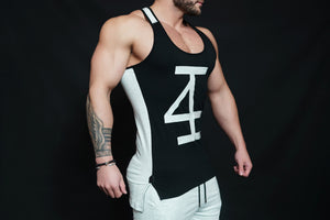 4Invictus - KANO Stringer – Black & Light Grey - Seitlich