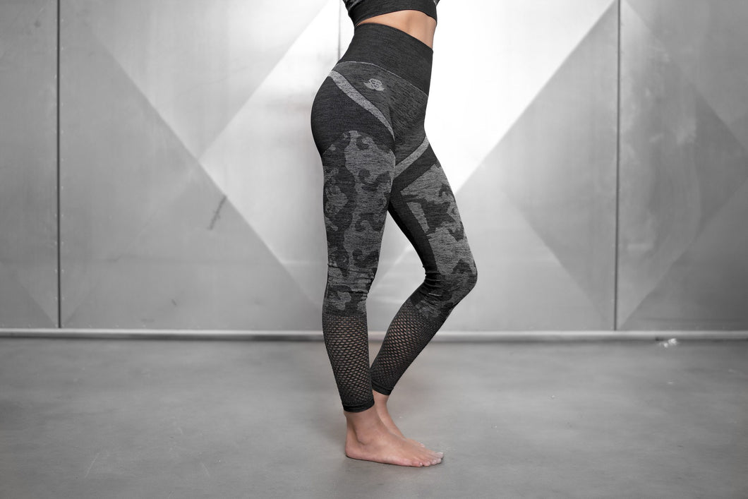 ATHENA CAMO Seamless Leggings High Waist – Anthracite