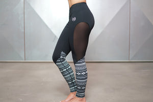 Body Engineers - ATHENA Maori Leggings – Inverted Black - Seitlich