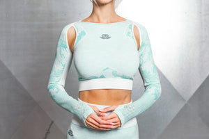 Body Engineers - ATHENA CAMO Seamless Crop Top – Mint