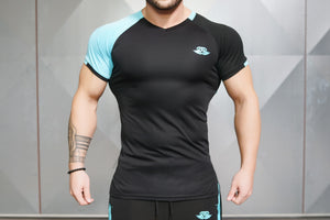 Body Engineers - ANAX Performance Shirt – Sky Blue - Vorderseite