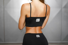 Body Engineers - ATHENA Comfort Crop Top – Black Out - Rückseite