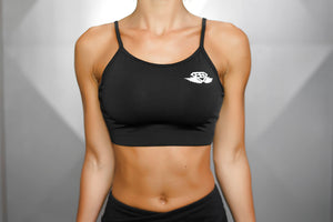 Body Engineers - ATHENA Comfort Crop Top – Black Out - Vorderseite