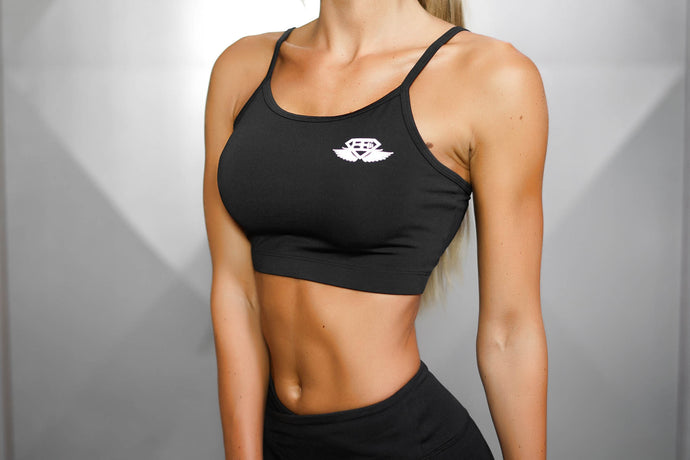 Body Engineers - ATHENA Comfort Crop Top – Black Out - Seitlich