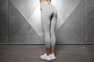 Body Engineers - Basic Infinity Leggings – Light Grey - Rückseite