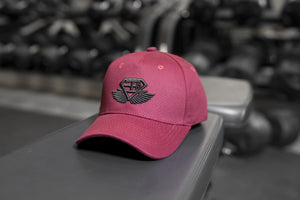 Body Engineers - BE Engineered Baseball Hat – Bordeaux Red - Vorderseite