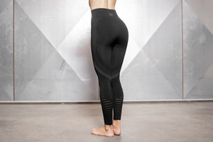 Body Engineers - FREYA Seamless Legging High Waist – Black & Grey - Rückseite