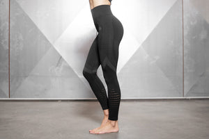 Body Engineers - FREYA Seamless Legging High Waist – Black & Grey - Seitlich