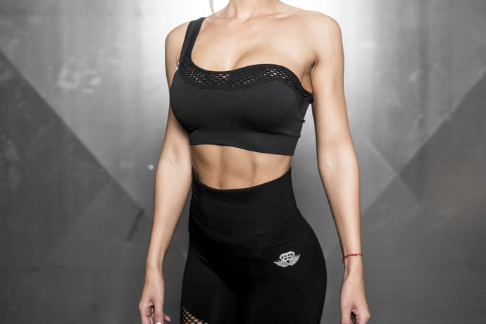 Body Engineers - Motus Seamless Bra - Black Out - Vorderseite