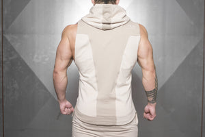 Body Engineers - NERI Prometheus Sleeveless Vest – Sand - Rückseite