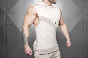 Body Engineers - NERI Prometheus Sleeveless Vest – Sand - Seitlich