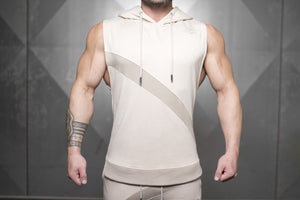 Body Engineers - NERI Prometheus Sleeveless Vest – Sand - Vorderseite
