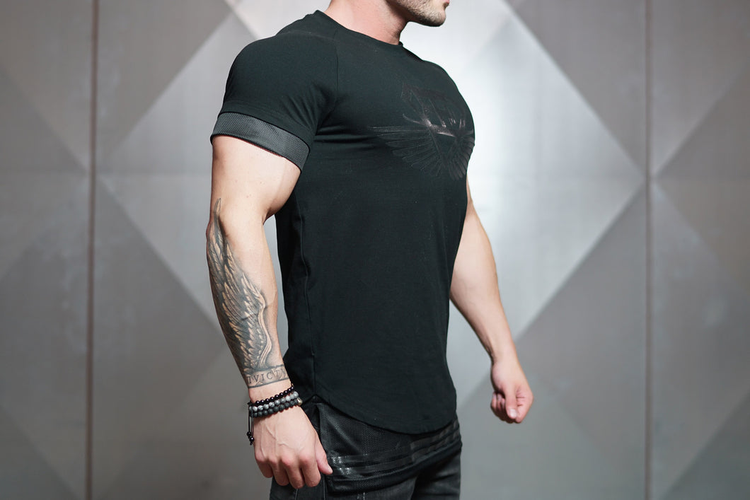 Body Engineers - NOX Lifestyle Shirt - Black on Black - Seitlich