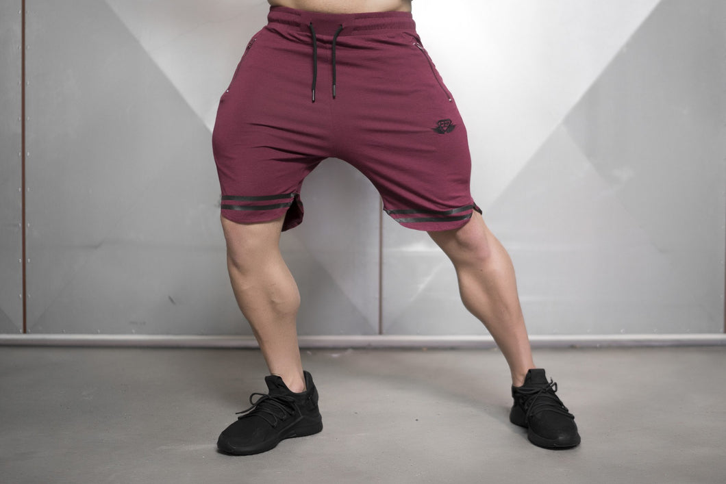 Body Engineers - NOX Prometheus Shorts – Bordeaux Red - Vorderseite