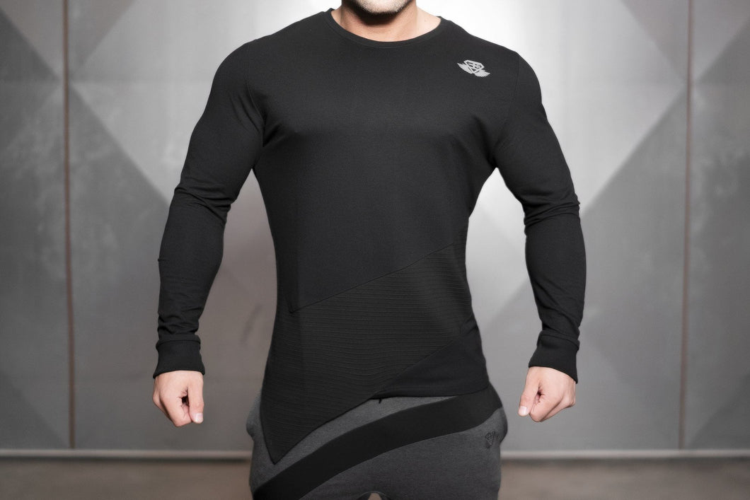 Body Engineers - OBLIQUE Prometheus Long Sleeve – Black Out - Vorderseite