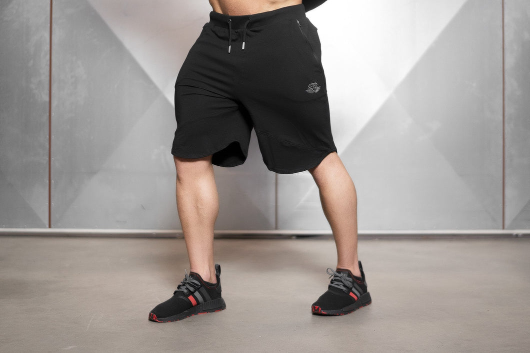 Body Engineers - OBLIQUE Prometheus Shorts – Black Out - Vorderseite