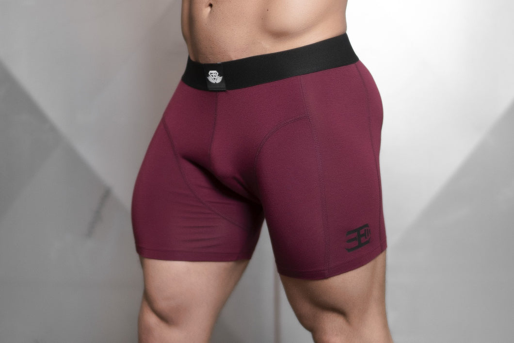 Body Engineers - Prometheus Boxer – Bordeaux Red - Seitlich