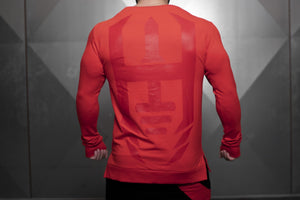 Body Engineers - VENOM Loose Fit Sweater – Fire Red - Rückseite