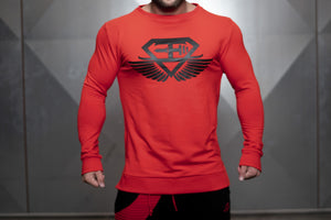 Body Engineers - VENOM Loose Fit Sweater – Fire Red - Vorderseite